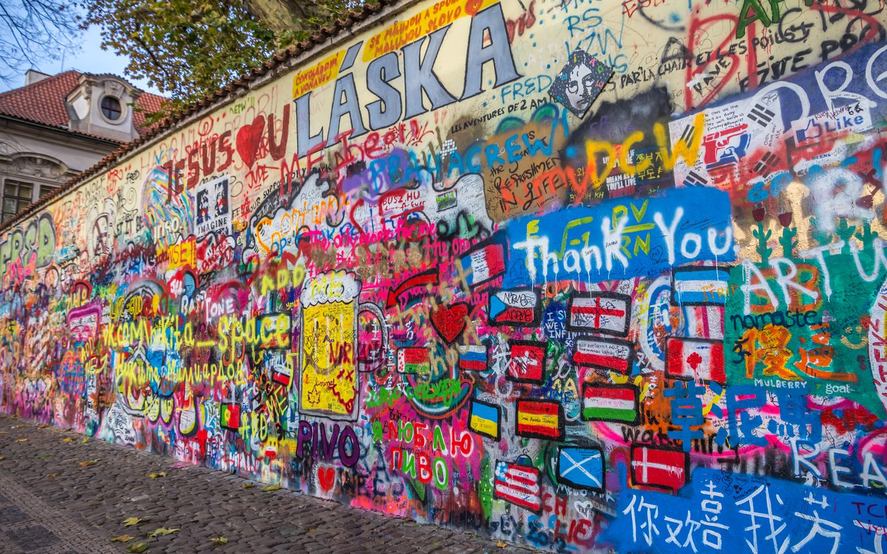 AWAYN IMAGE Photograph The John Lennon Wall