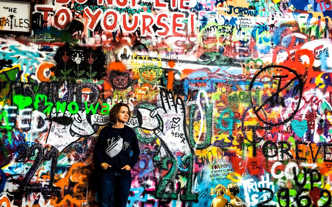 AWAYN IMAGE Photograph The John Lennon Wall