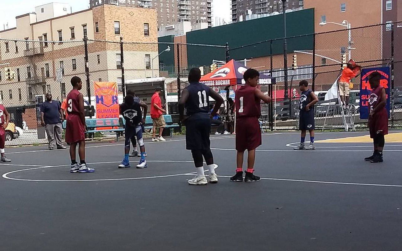 AWAYN IMAGE Ball play at Holcombe Rucker Park