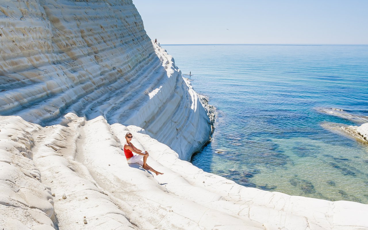AWAYN IMAGE Enjoy the sun at Scala Dei Turchi (Stair of the Turks)