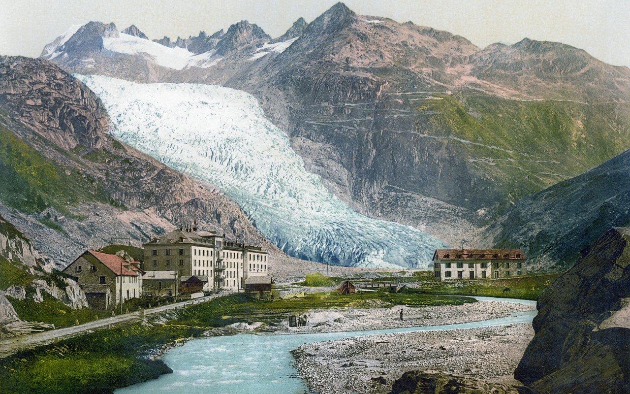 AWAYN IMAGE Rhône Glacier