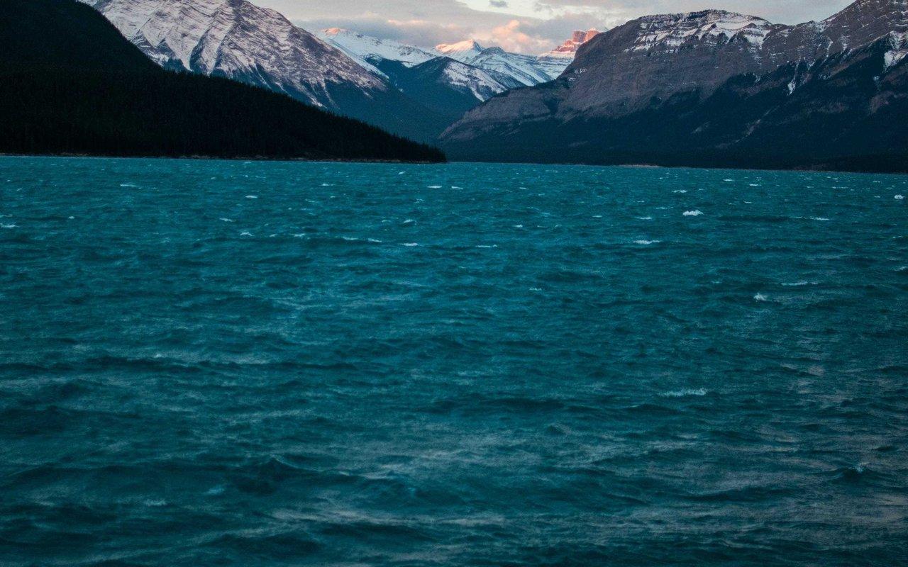 AWAYN IMAGE Two Jack Lake . A beautiful scenic drive.