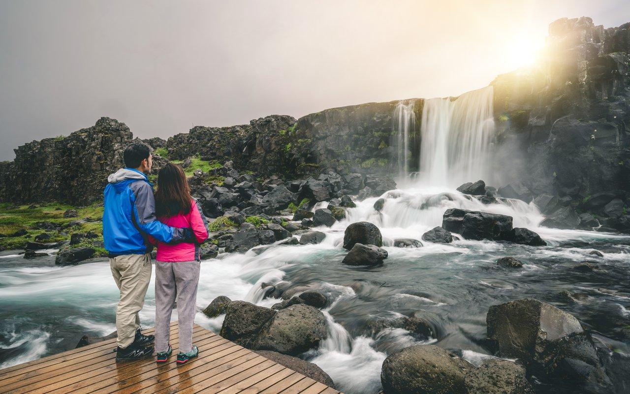 AWAYN IMAGE Hike to ÖxarárfossThingvellir (Þingvellir) Park