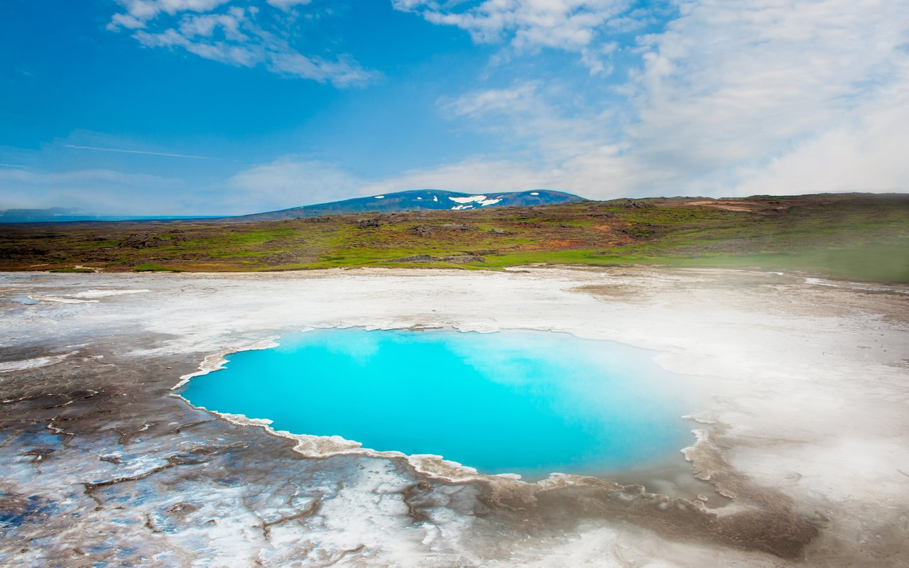 AWAYN IMAGE Plung in Hveravellir blue geothermal pool
