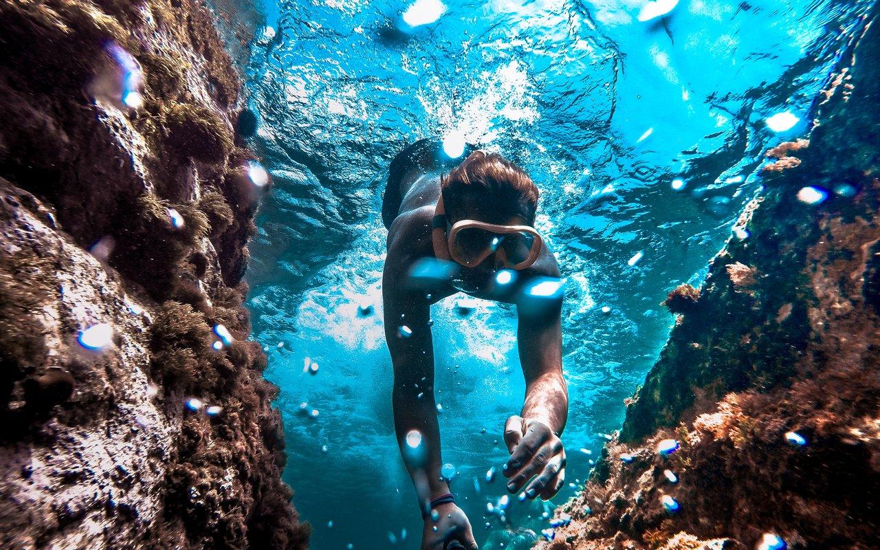 AWAYN IMAGE Swimming in Calella de Palafrugell, Spain