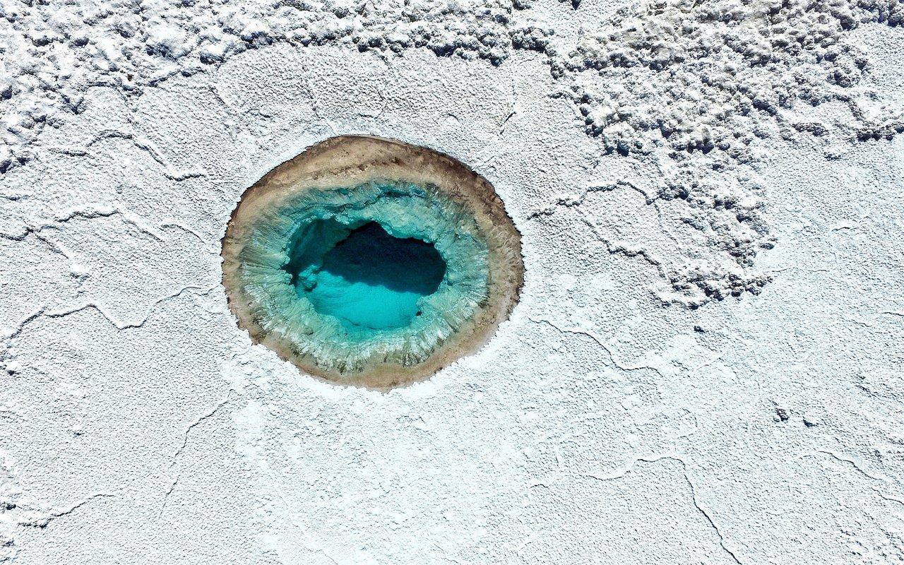 AWAYN IMAGE Swimg in blue waters of Lagunas Escondidas de Baltinache