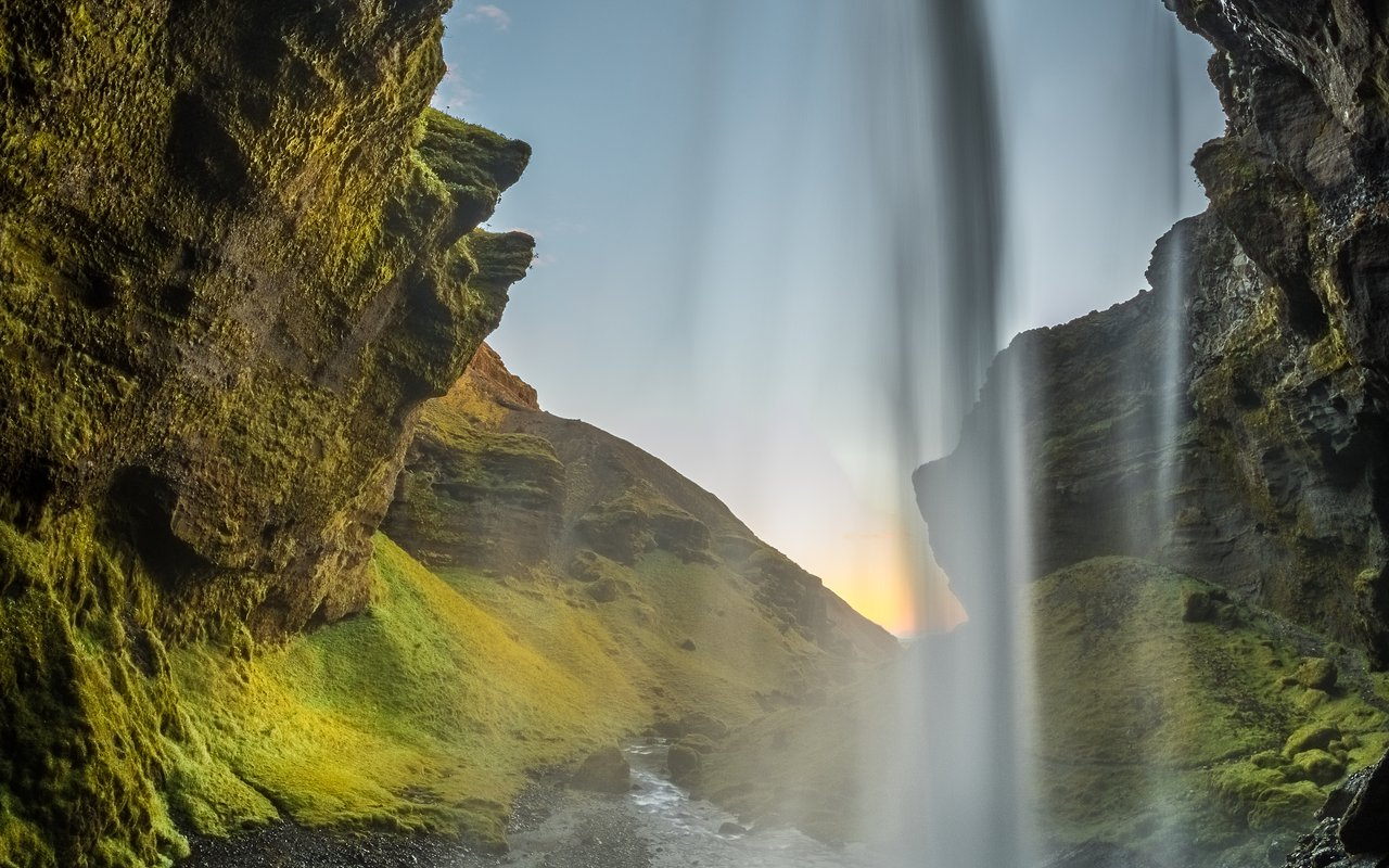 AWAYN IMAGE Hike to Kvernufoss Waterfall