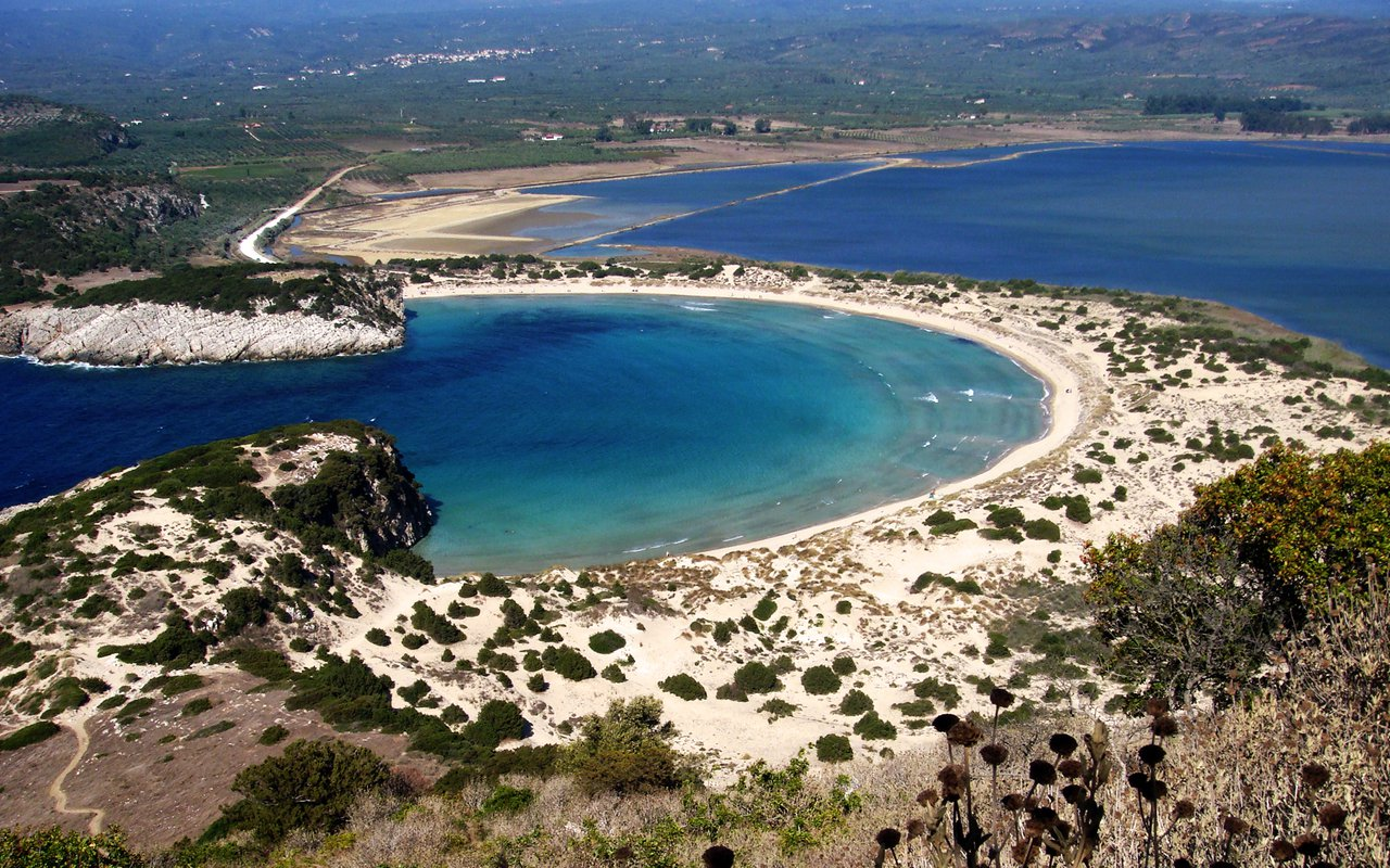AWAYN IMAGE Spend a summer in the golden sands of Voidokilia Lagoon in Greece