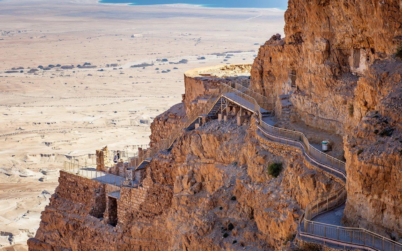 AWAYN IMAGE Mesada hike, israel