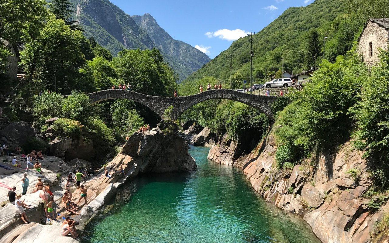 AWAYN IMAGE Swim in Valle Verzasca River
