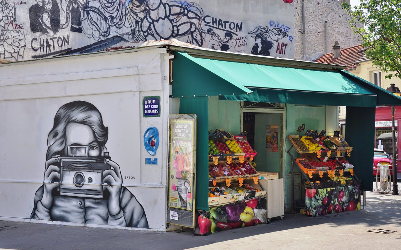 AWAYN IMAGE Photograph the murals of Butte aux Cailles