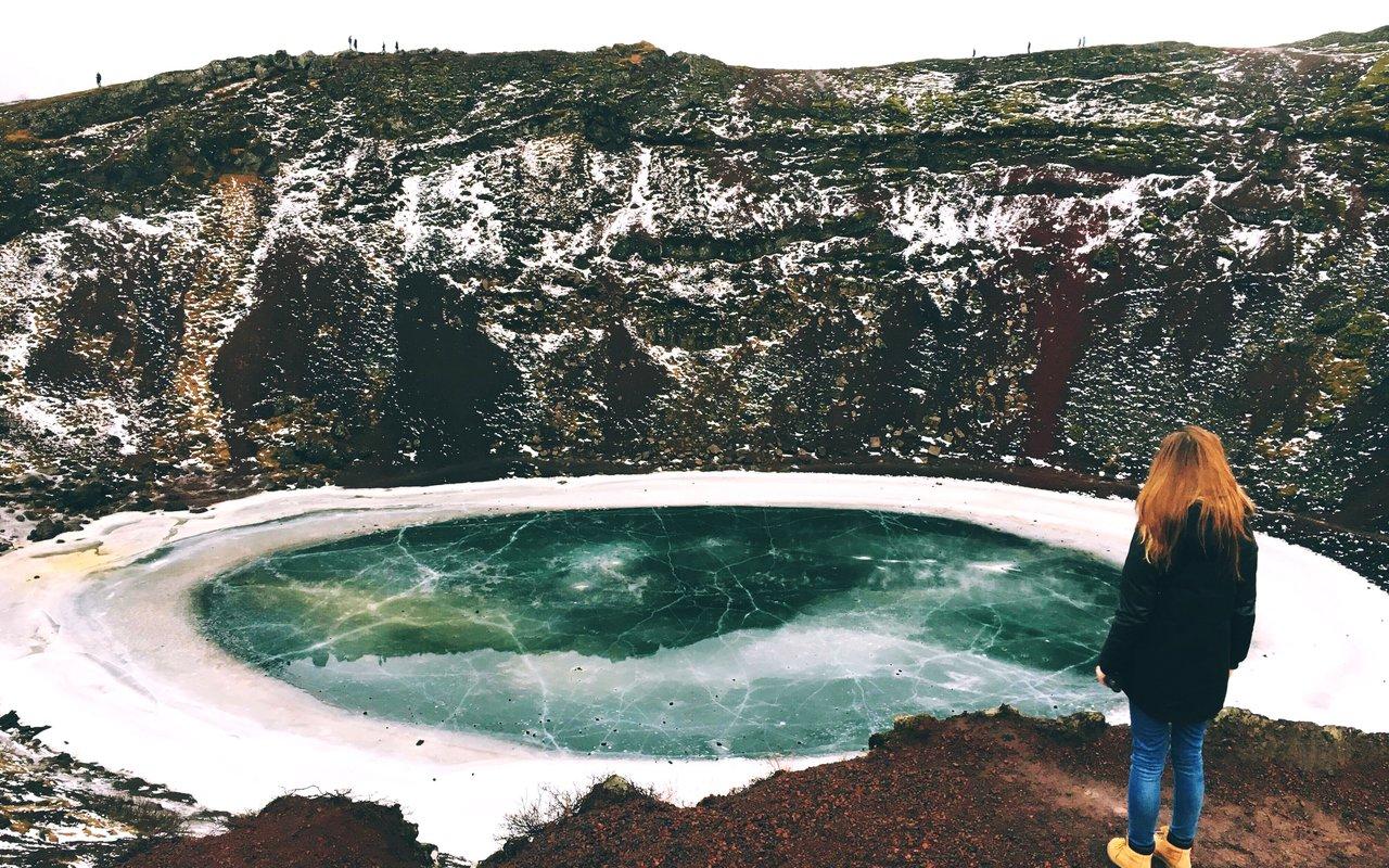 AWAYN IMAGE Kerid a lake filled volcanic crater
