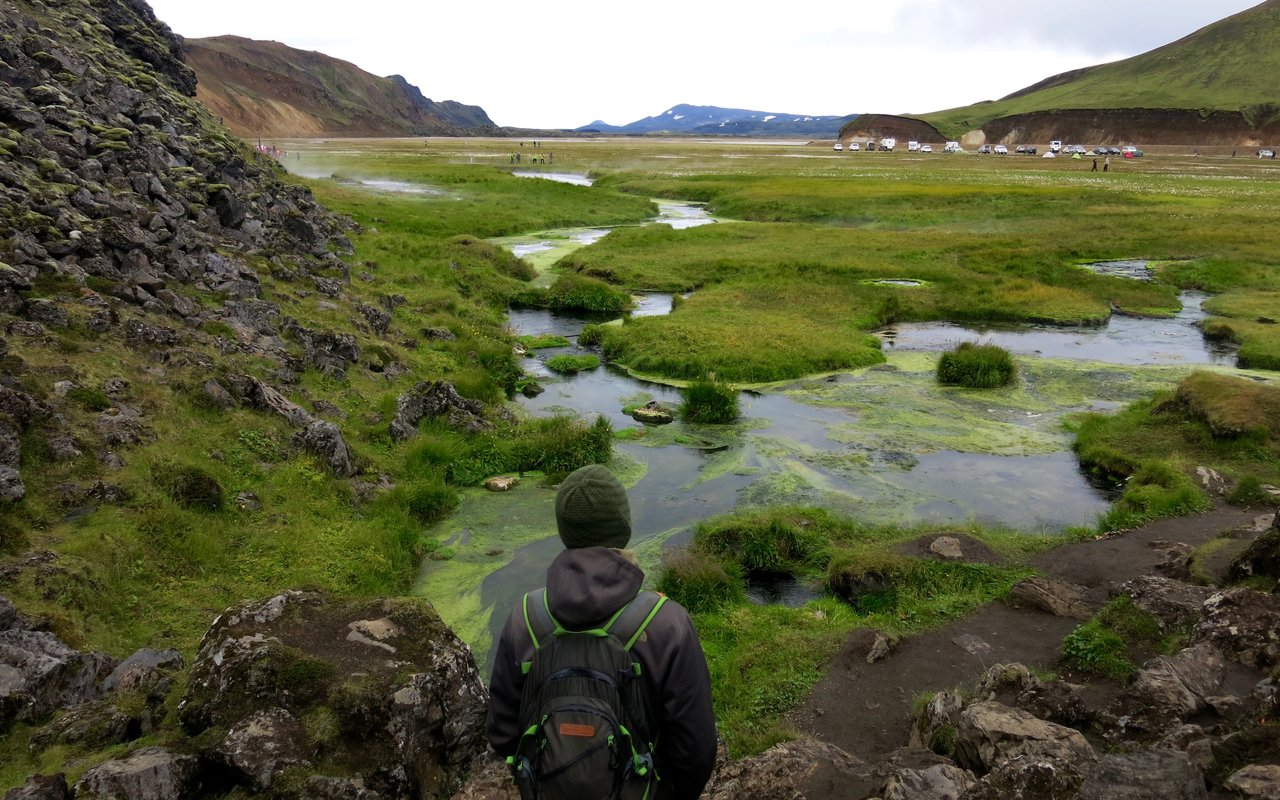 AWAYN IMAGE Soak in Landmannalaugar hot pool